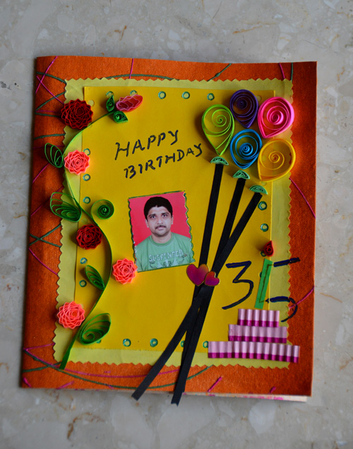 paper quilling birthday card
