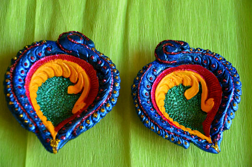 handmade decorative diya for diwali