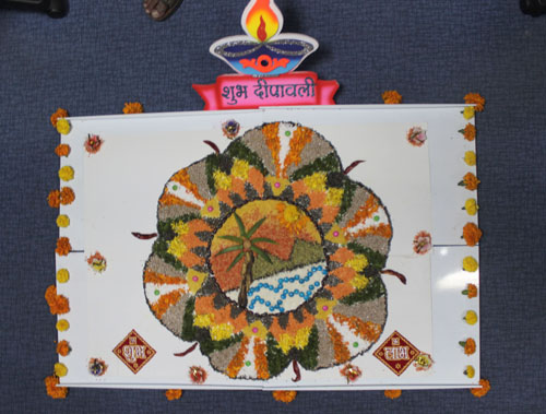 decorative rangoli for diwali