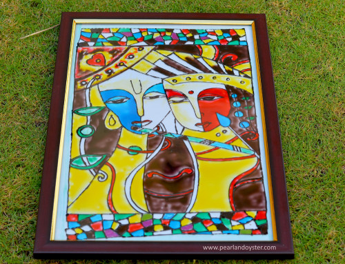 krishna glass painting