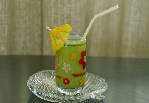 green summer cooler drink