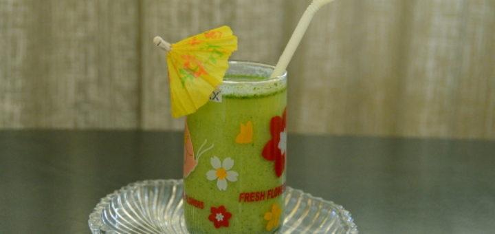 green summer cooler drink