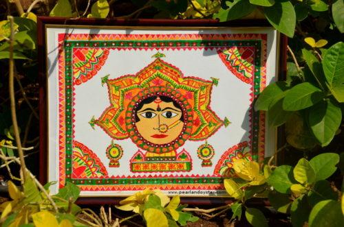 Durga painting - Madhibani Art