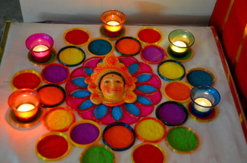 Bangle Rangoli during Golu