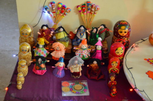 Dolls on the golu for navratri