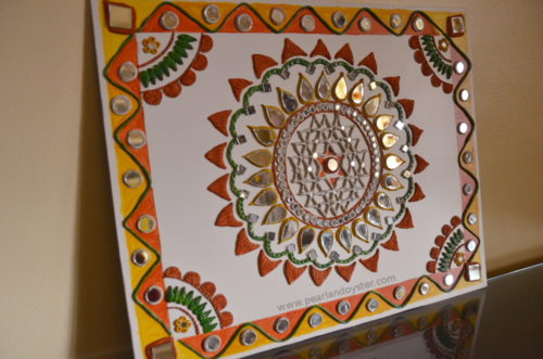 Lippan art work from Kutch